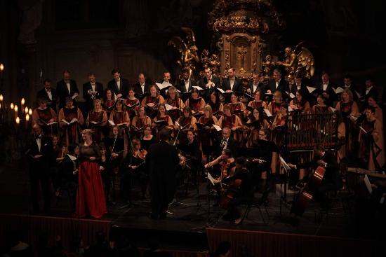 Foto z vánočního koncertu v roce 2017 (kostel sv. Šimona a Judy)